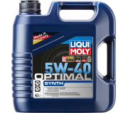 Масло моторное LIQUI-MOLY SAE  5W40 Optimal Synth  4 л 3926 cинтетическое, Масла моторные