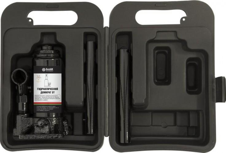 Домкрат бутылочный БелАК 3 тонны в кейсе, 145/285 мм (БАК.10040) [БАК.10040]