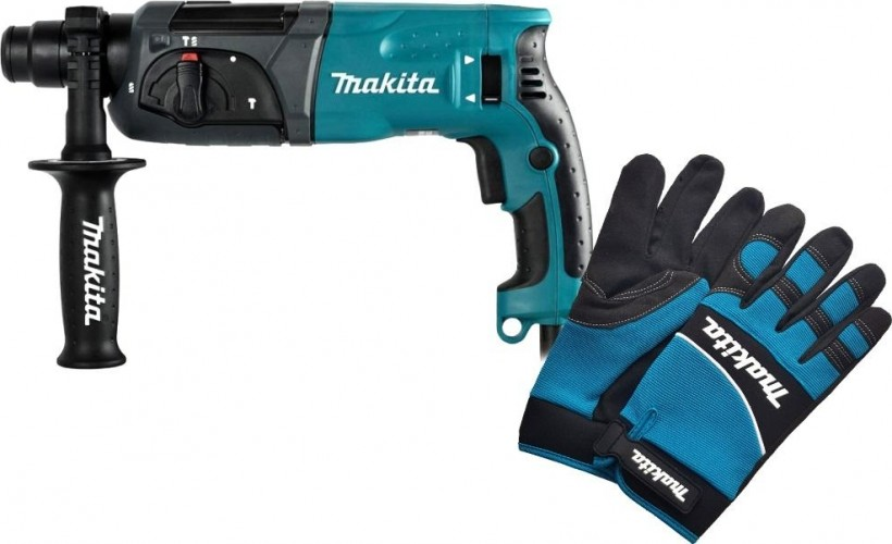 Перфоратор сетевой MAKITA HR 2470 + перчатки